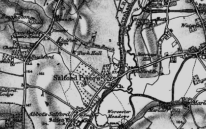 Old map of Broom Court in 1898