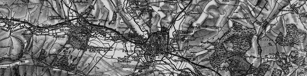 Old map of Salisbury in 1895