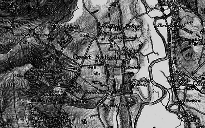 Old map of Wolfa in 1897