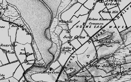 Old map of Whitehill in 1897