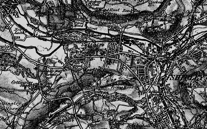 Old map of Saltaire in 1898