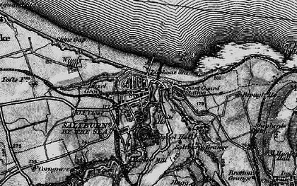 Old map of Saltburn-By-The-Sea in 1898