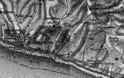 Old map of Saltdean in 1895