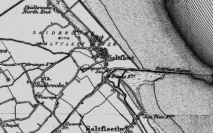 Old map of Saltfleet in 1899