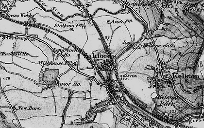 Old map of Avon Valley Country Park in 1898