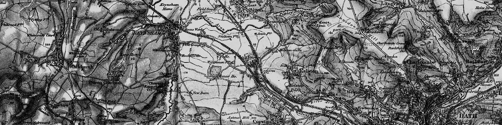 Old map of Saltford in 1898