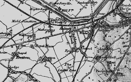 Old map of Saltney in 1897