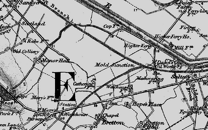 Old map of Saltney Ferry in 1897