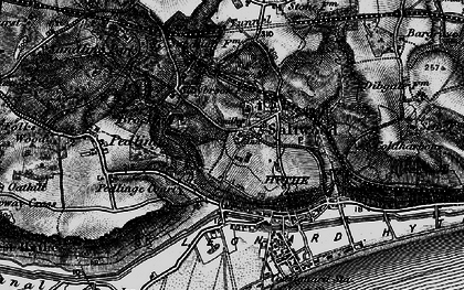 Old map of Saltwood in 1895