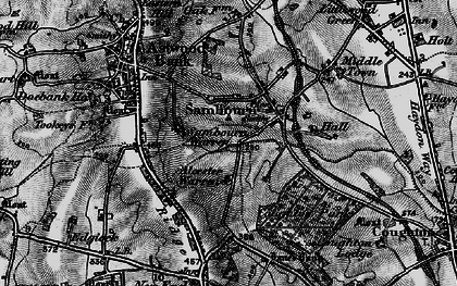Old map of Alcester Warren in 1898