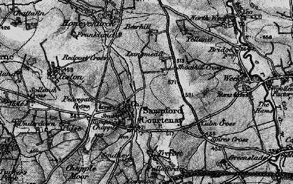 Old map of Langmead in 1898