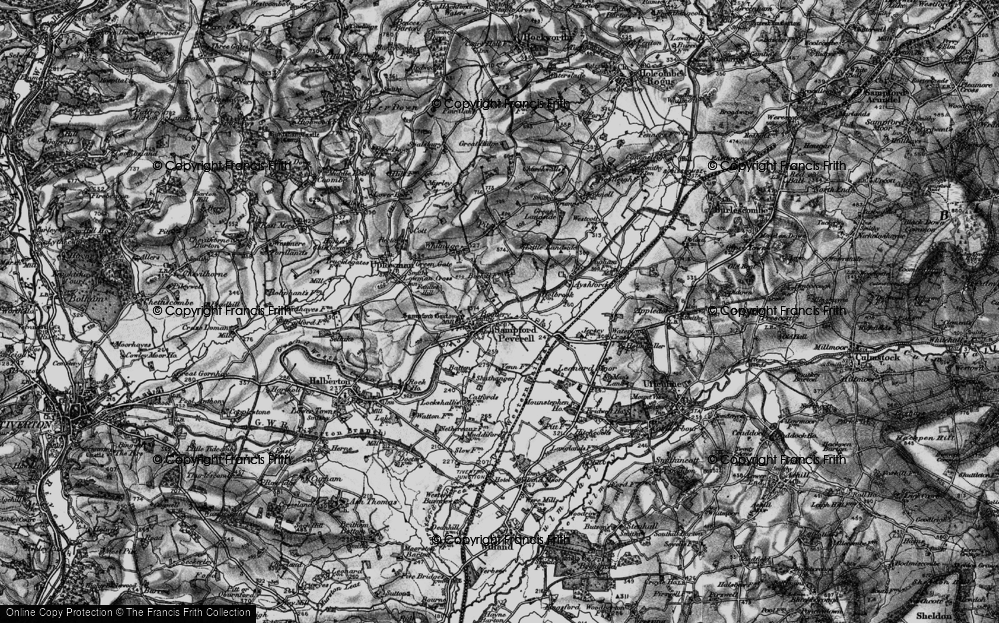 Old Map of Sampford Peverell, 1898 in 1898