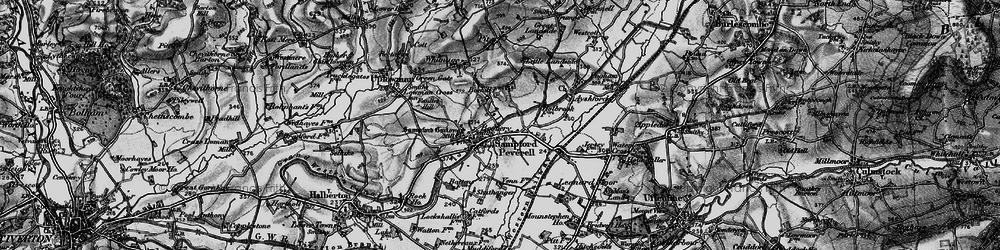 Old map of Tiverton Parkway in 1898
