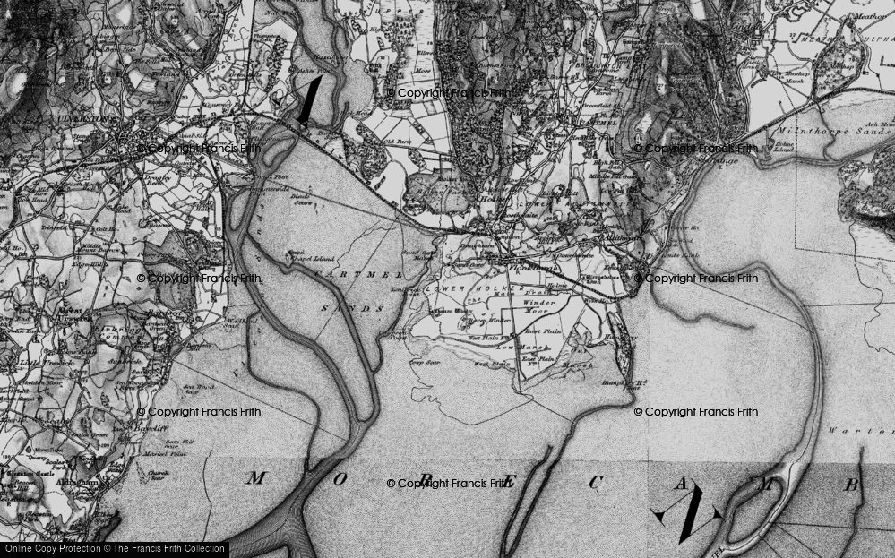Old Map of Historic Map covering Lenibrick Point in 1898