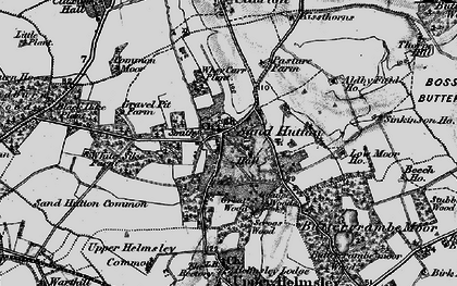 Old map of Sand Hutton in 1898