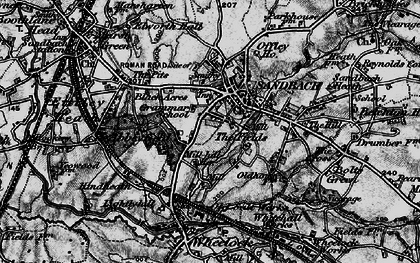 Old map of Sandbach in 1897