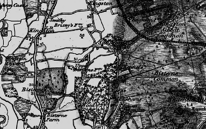 Old map of Avon Tyrrell in 1895
