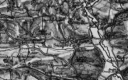 Old map of Aller Down in 1898