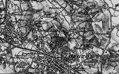 Old map of Sandford Hill in 1897