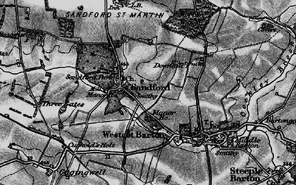 Old map of Worton Wood in 1896