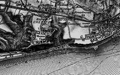 Old map of Sandgate in 1895