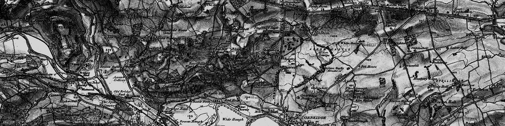 Old map of Acomb Fell in 1897