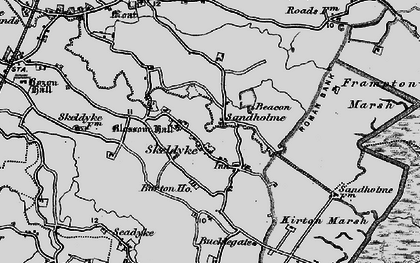 Old map of Wyberton Marsh in 1898