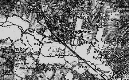 Old map of Sandhurst in 1895