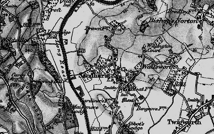 Old map of Willington Court in 1896