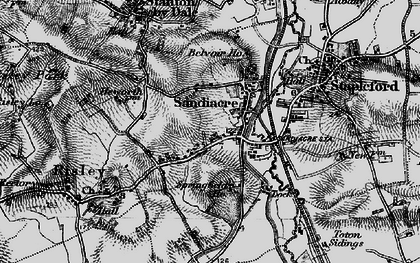 Old map of Sandiacre in 1895