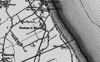 Old map of Sandilands in 1898
