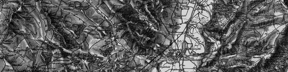 Old map of Wilkins's Coomb in 1895