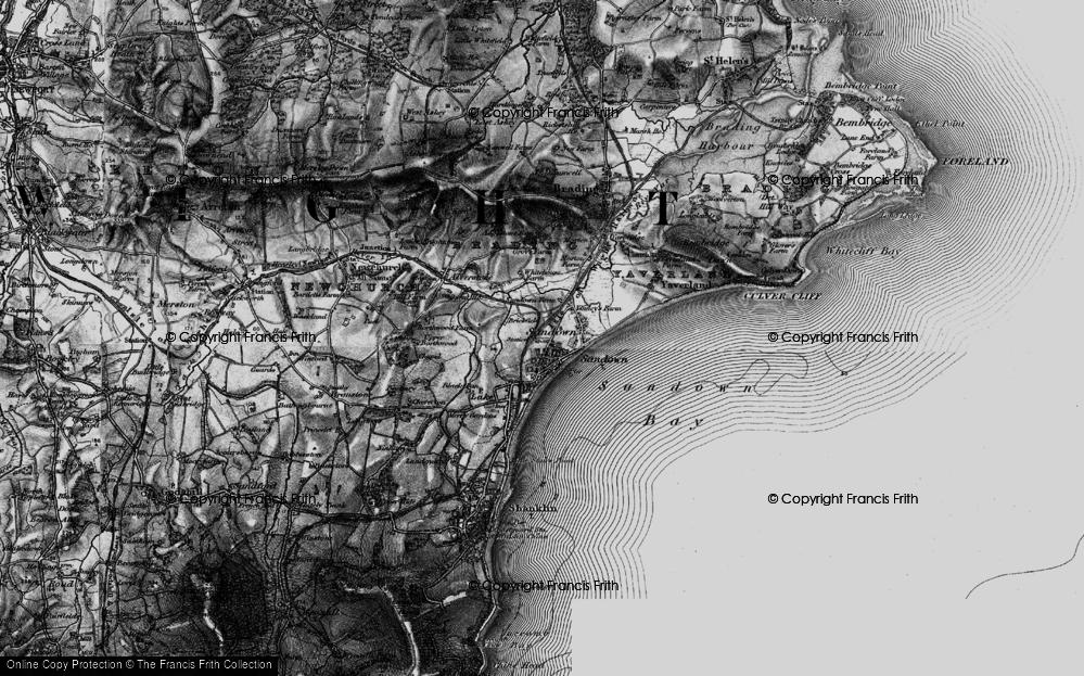 Old Map of Sandown, 1895 in 1895