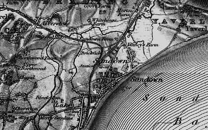 Old map of Sandown in 1895