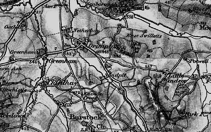 Old map of West Swilletts in 1898