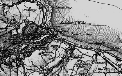 Old map of Sandsend in 1898