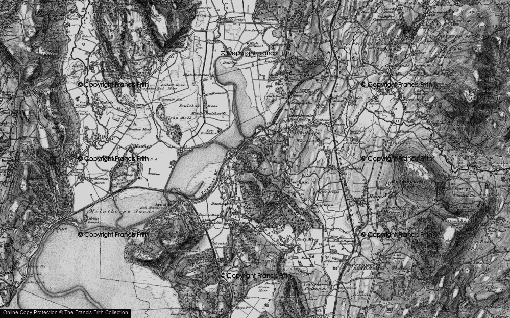 Old Map of Historic Map covering Wray Cott in 1898