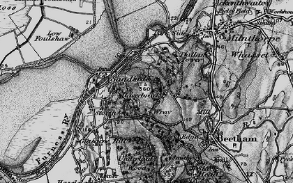 Old map of Wray Cott in 1898
