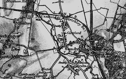 Old map of Sandy in 1896
