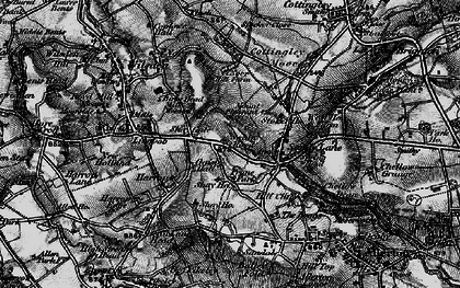 Old map of Bailey Fold in 1898