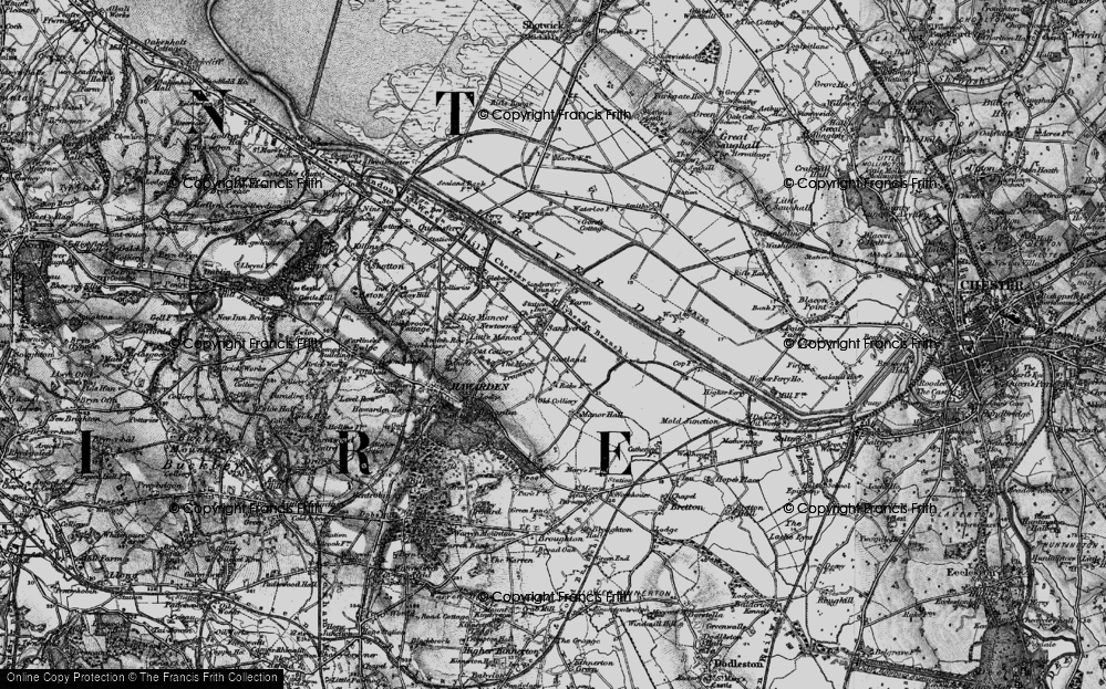 Old Map of Sandycroft, 1896 in 1896
