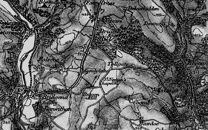 Old map of Sandylake in 1896