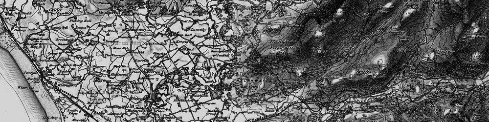 Old map of Santon Bridge in 1897