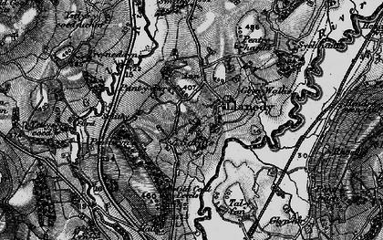 Old map of Ystlys-y-coed-uchaf in 1897