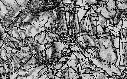 Old map of Afon Soch in 1898