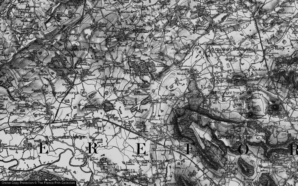 Old Map of Sarnesfield, 1898 in 1898