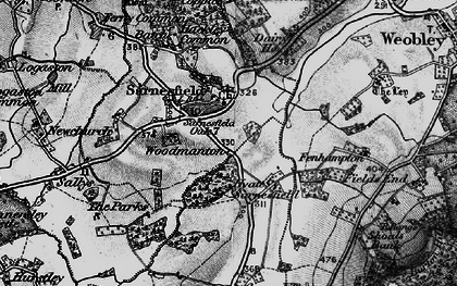 Old map of Sarnesfield in 1898