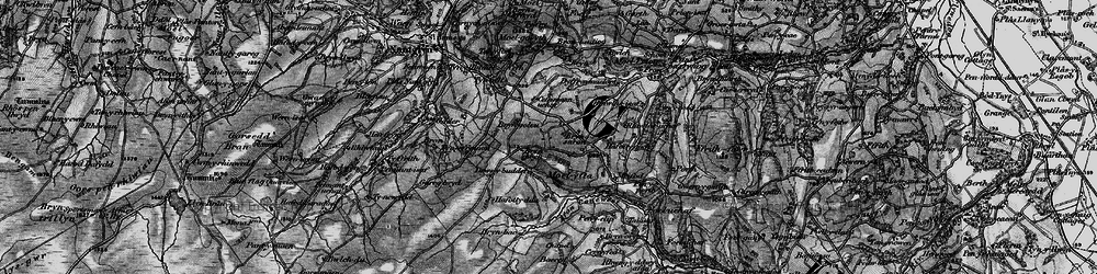 Old map of Afon Concwest in 1897