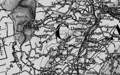 Old map of Afon Gwyrfai in 1899