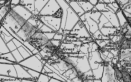 Old map of Astbury Ho in 1896